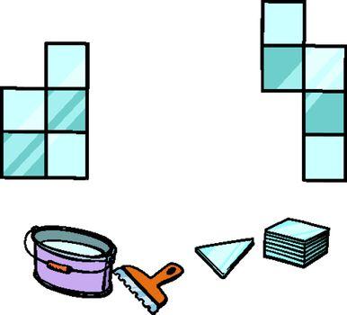 laying tile, repair work