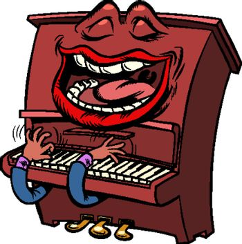 joyful Emoji character emotion piano musical instrument
