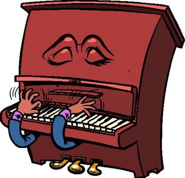 sad romantic Emoji character emotion piano musical instrument