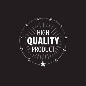 Vector mark of the best quality of the product drawn by hand