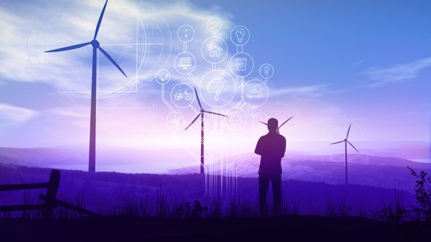 Green electricity and Infographics of the Future Ecology