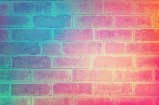 Color brick wall texture for background