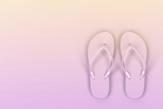 Colorful flip-flops - top view
