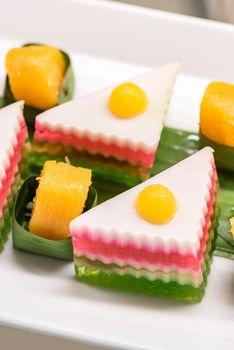 Coconut Jelly Thai sweet dessert