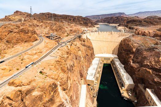 Hoover dam in Arizona and Nevada, USA