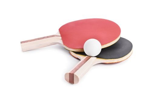 Ping Pong bats with a ball