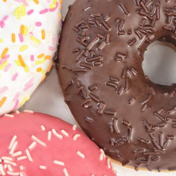 Fresh donut with sugar glaze