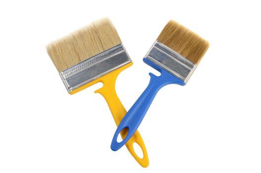 Brush for painting paint isolated on white background
