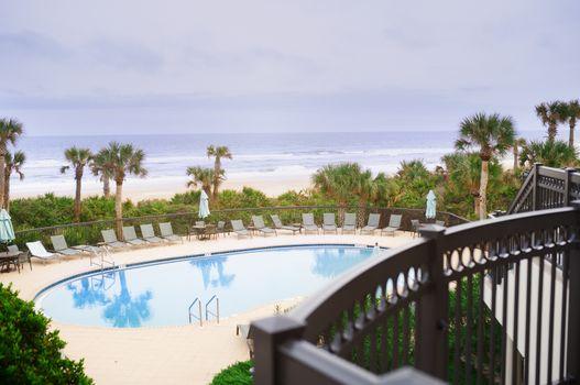 Swimming pool at the Atlantic Ocean