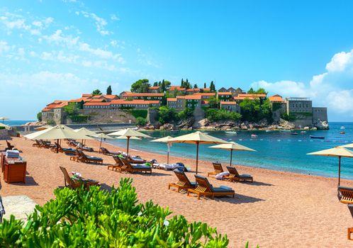 Beach at Sveti Stefan Island