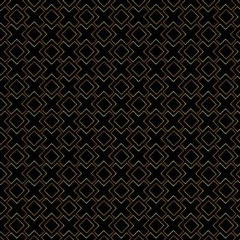 Abstract gold geometric lines pattern on black background luxury. Vector illustration