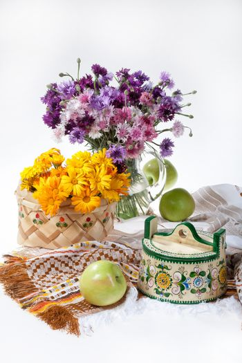 Flowers And Russian National Artworks