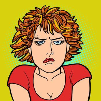 woman upset sad. human emotion