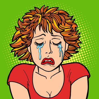 woman crying human emotions