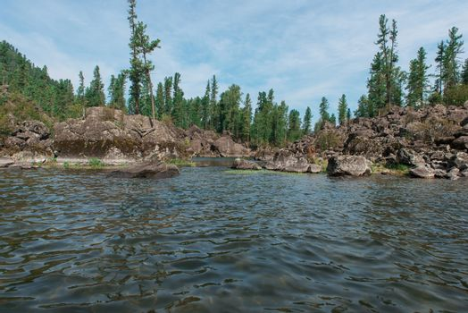 Teletskoye lake in Altai mountains