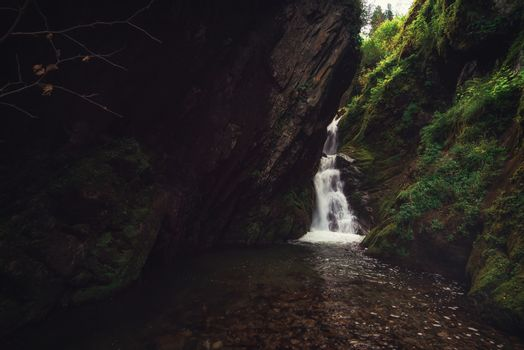 Estyube Waterfall at Lake Teletskoye