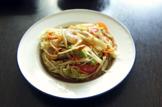 "Thai papaya salad or what we call "" Somtum """
