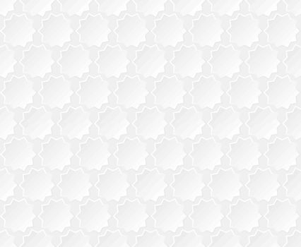 White and light gray background. Seamless abstract pattern. Vector illustration. Geometric shape halftone