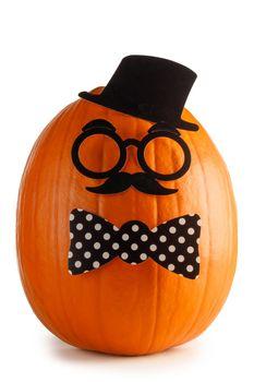 Fun halloween pumpkin isolated on white background