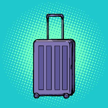 Travelling suitcase on wheels