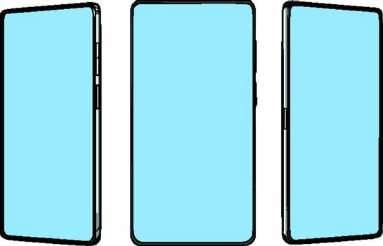 smartphone screen from different angles mocap template
