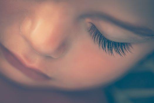 Adorable child sleeping