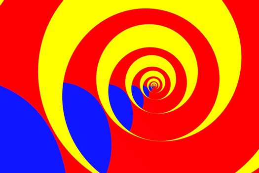 abstract image of spiral form of monocentric type