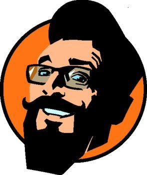 smiling hipster man. joyful emotions