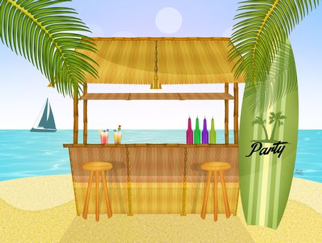 illustration of summer party