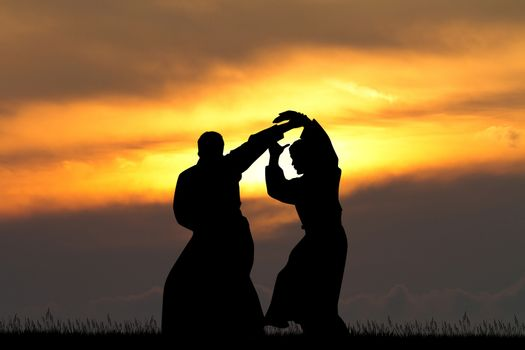 Aikido at sunset