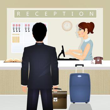 illustration of business travel