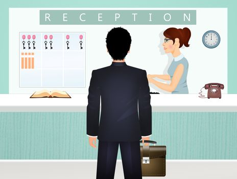 illustration of business travel