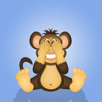 wise monkey I do not see