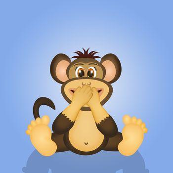 wise monkey I do not speak