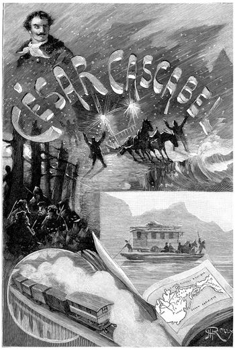 Extraordinary Voyages, vintage engraving.