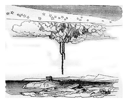 The Olympus, according to the system of Homer, vintage engraving