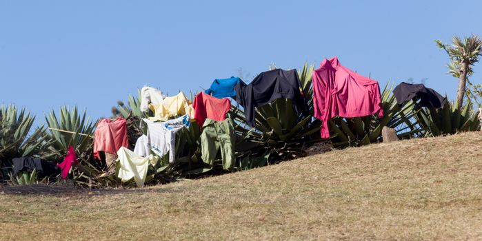 Laundry day in, Madagascar