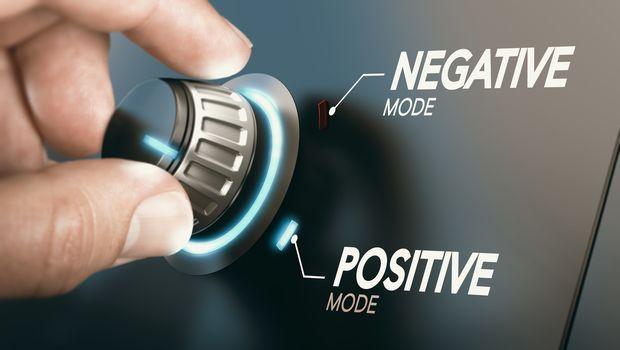 Change to positive attitude. Psychology concept.