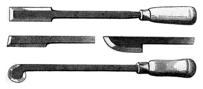 Clasps, vintage engraved illustration. Magasin Pittoresque 1853.