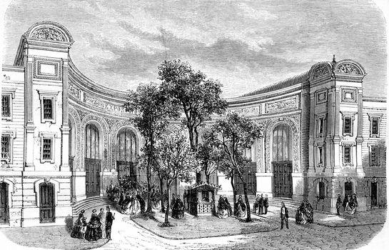 Entrance to the Exhibition of Fine Arts, avenue Montaigne, Champ
