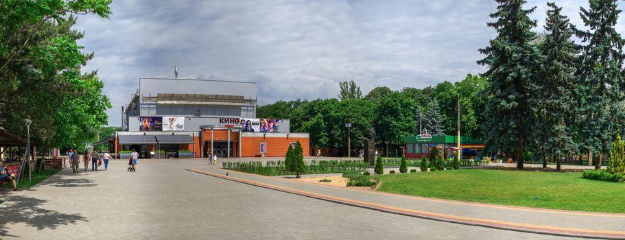 Cinema in Gorky Park in Odessa, Ukraine
