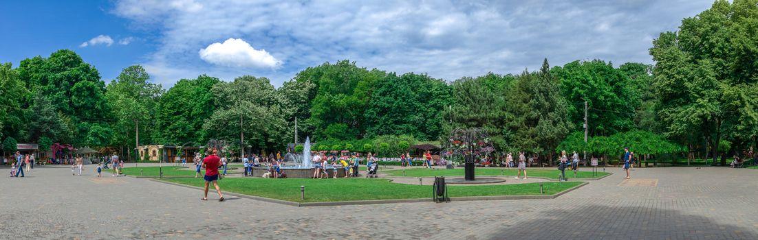 Fountains in Gorky Park in Odessa, Ukraine