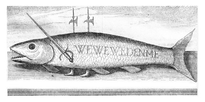 Old prints seventeenth century, vintage engraved illustration. Magasin Pittoresque 1870.