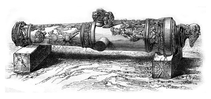 The Cannon St. Paul, National Museum of Florence, vintage engraved illustration. Magasin Pittoresque 1876.