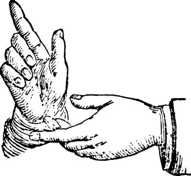 This picture represents the hands position in argumentation vint