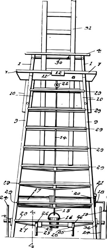 Tall Ladder vintage illustration.