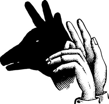 This picture represents Reindeer vintage engraving.