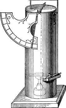 Alcoholic Furnace vintage illustration.