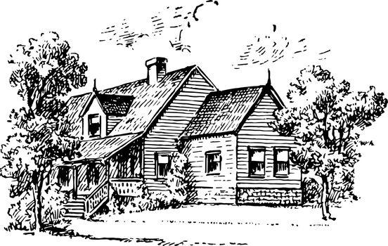 Lodging vintage illustration.