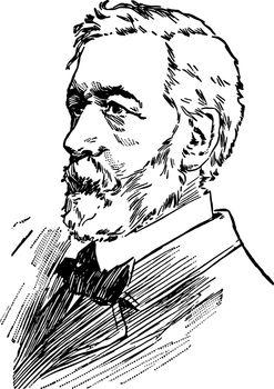 James Gillespie Blaine vintage illustration